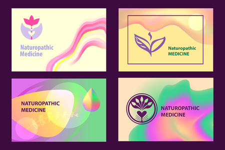 Set flyer, poster, for naturopathic medicine.