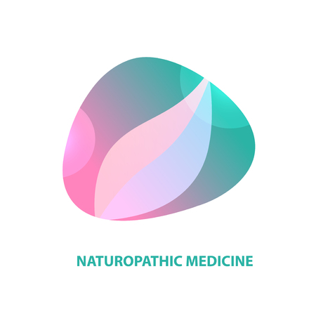 Naturopathic medicine. Abstract silhouette leaf. Vectores
