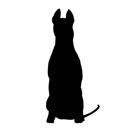 black silhouette of a dog sitting