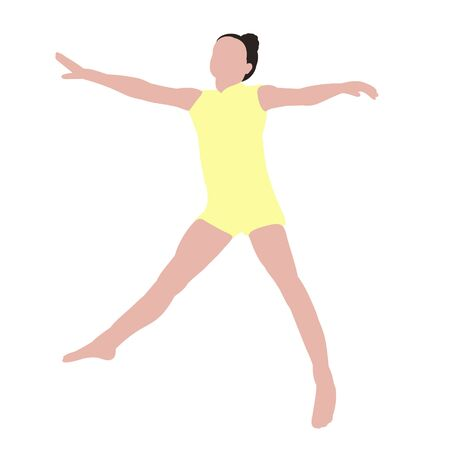 white background, no face, dancing girl