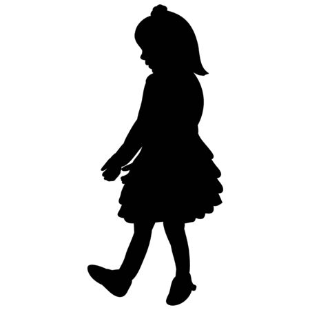 silhouette of the child, girl