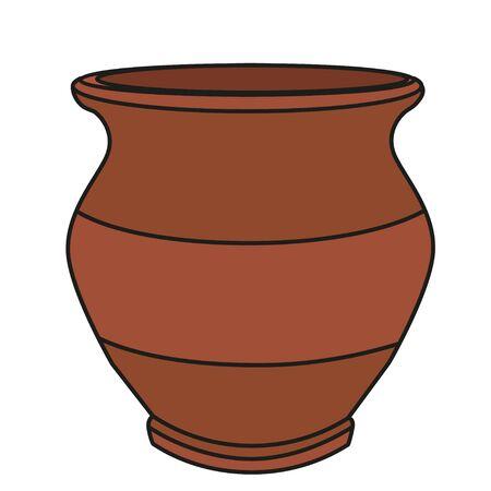 clay pot isolated
