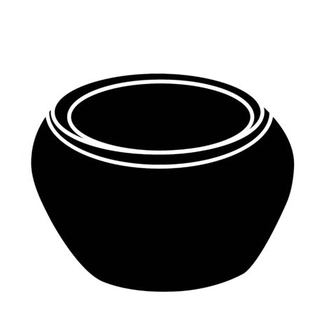 vector, isolated clay pot silhouette