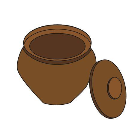 vector isolated clay pot