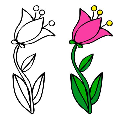 flower, coloring book Banque d'images - 149590540