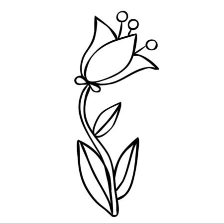 flower, for kids, book coloring Banque d'images - 149587030