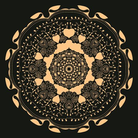 circular ornament, mandala Illustration
