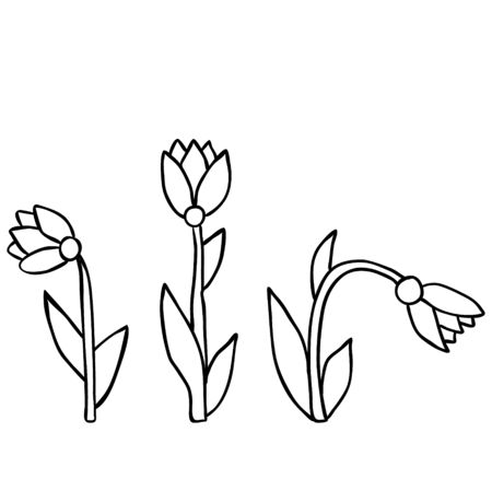 flower, for kids, book coloring pages Banque d'images - 149588912