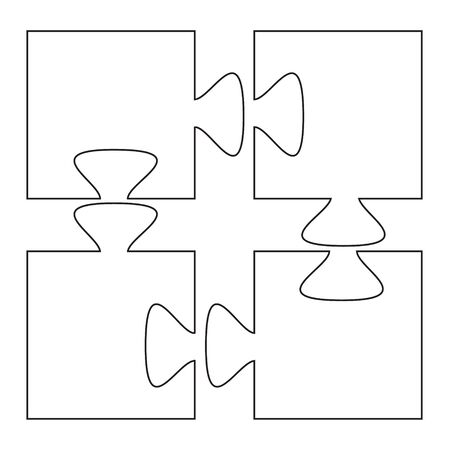 isolated, sketch puzzles