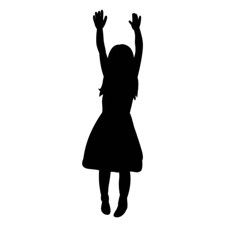 vector, isolated silhouette children little girl Banque d'images - 149594361