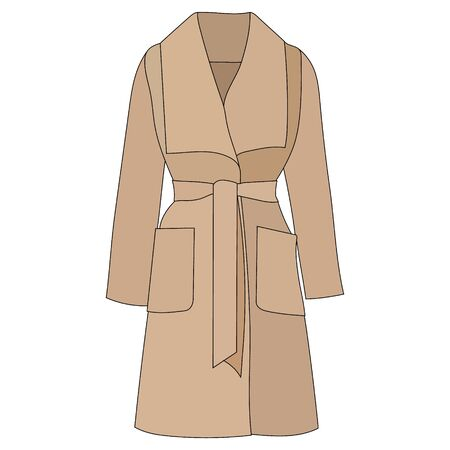 white background, outerwear coat, raincoat, brown