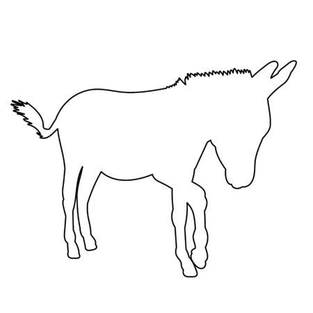 contour of donkeys, sketch
