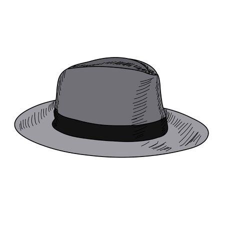 men's hat graphic on white background