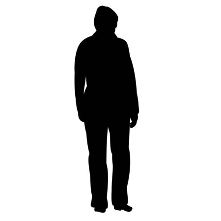 isolated silhouette man standing