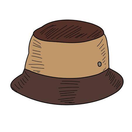 men's hat with brim on white background