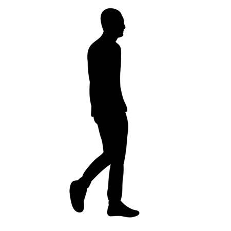 silhouette man walking