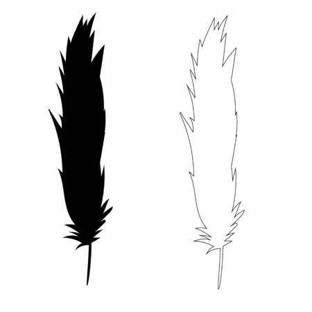 vector isolated silhouette pen Vectores