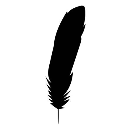 isolated silhouette of the feather, beautiful Vectores