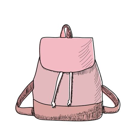 vector isolated on white background female backpack