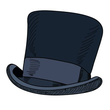 vector, isolated, on a white background, men's hat, top hat 向量圖像