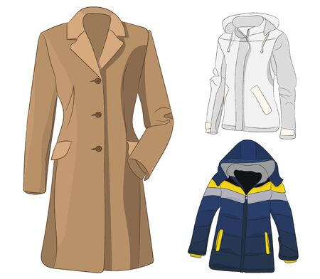 isolated coat and jacket