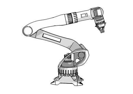 robotic arm vector electronic