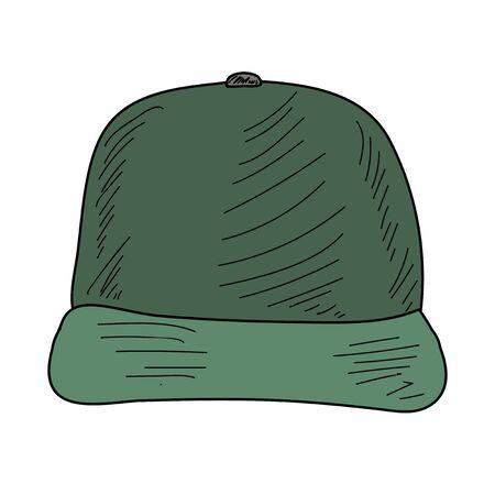 men's baseball cap with a visor Vettoriali