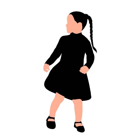 vector on white background silhouette of a child