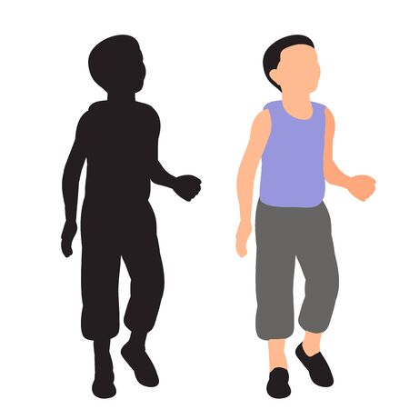 vector, on a white background, boy, flat style without a face