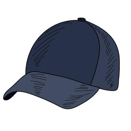 vector, on a white background men's baseball cap with a visor