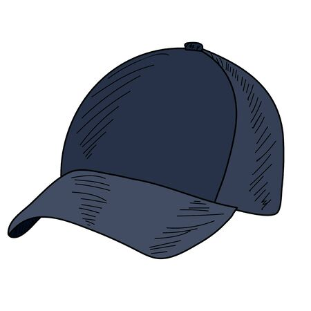 vector, on a white background men's baseball cap with a visor