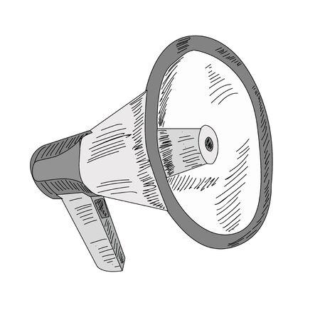 vector isolated on white background loudspeaker