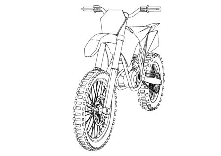 sketch motorcycle vector on a white background