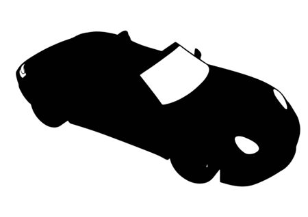 silhouette of sports car vector