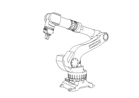 sketch robotic arm  vector