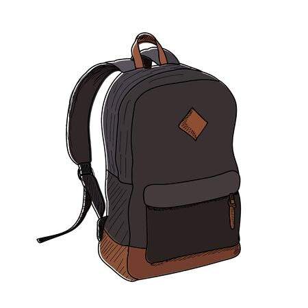 vector isolated on white background backpack 일러스트
