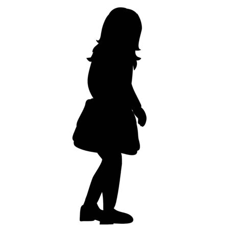 silhouette of a child, girl