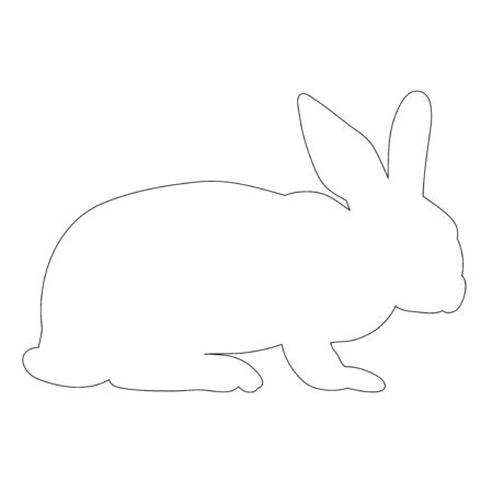bunny outline on white background