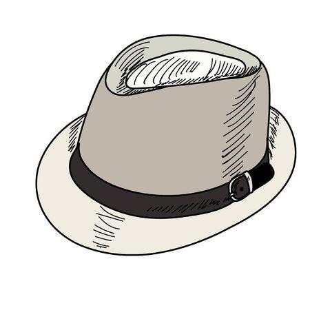 men's hat on white background