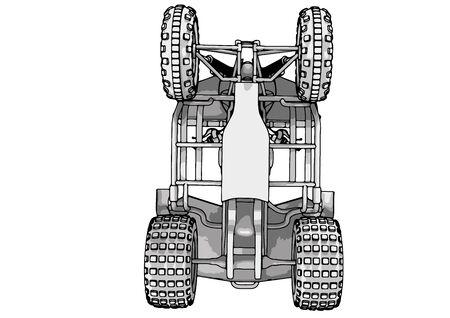 quad bike ATV drawing on a white background