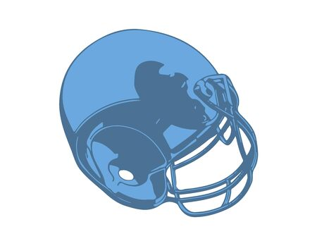 blue american football helmet vector