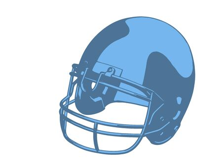 blue american football helmet vector Banco de Imagens - 150543949