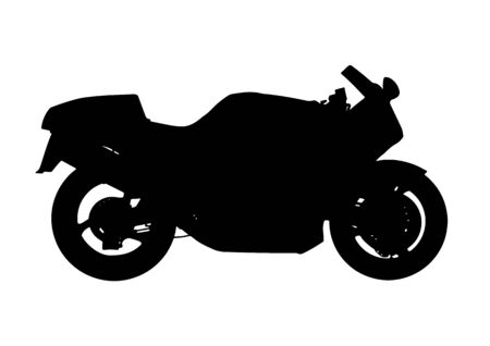silhouette sport motorcycle vector