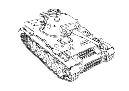 old military equipment tank vector