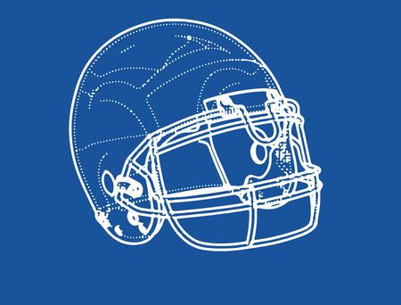 american football helmet drawing vector