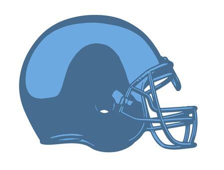 blue american football helmet vector Banco de Imagens - 150553932