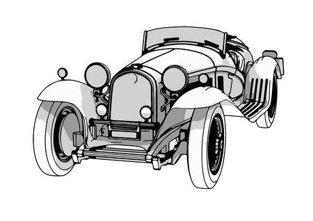 vintage sport car vector