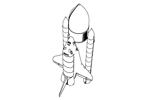 sketch of spacecraft vector