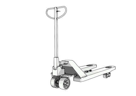 pallet truck vector on a white background