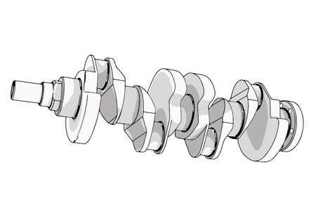 crankshaft vector on a white background Vektorové ilustrace